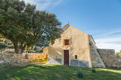 Notre Dame de la Stella chapel near Lumio in Corsica Stock Photo