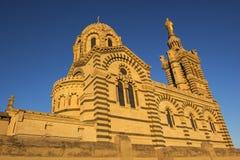 Notre-Dame de los angeles Garde w Marsylskim w Francja obraz stock