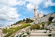 Notre-Dame de losu angeles Garde bazylika Obrazy Royalty Free