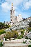 Notre-Dame de losu angeles Garde bazylika Zdjęcia Royalty Free
