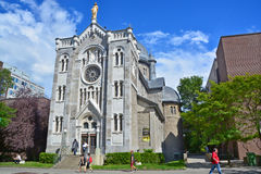 Notre-Dame-de-lourdes chapel Royalty Free Stock Photo