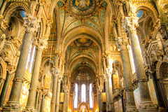 Notre dame de fourviere, Lyon, France Stock Photos