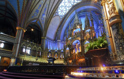 Notre Dame de Montreal Basilica Immagini Stock