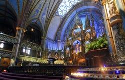 Notre Dame de Montreal Basilica Stockbilder