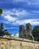 Notre Dame de pari在巴黎,法国 图库摄影