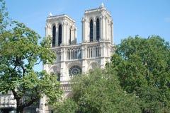 Notre Dame de Paris. The church of Notre Dame in Paris seen from the bridge over the Seine Stock Images
