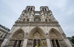 Notre-Dame de Paris imagen de archivo libre de regalías