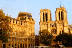 Notre Dame de Paris imagens de stock