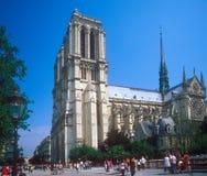 Notre Dame de Paris. Paris, France, april 24, 2011: Cathedral Notre dame stands on the Ile de la Cite in Paris. It is a gothic masterpiece from 14th century. It Royalty Free Stock Image