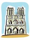 Notre Dame de Paris Stockfotos