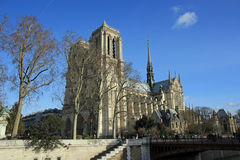 Notre Dame de Paris. French for Our Lady of Paris), also known as Notre Dame Cathedral, is a Gothic, Roman Catholic cathedral on the eastern half of the �le Royalty Free Stock Image