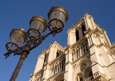 Notre-Dame de Paris. Low-angle view of Notre-Dame cathedral - Paris, France royalty free stock photography