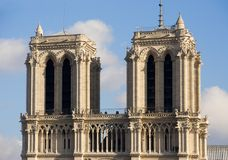 Notre-Dame de Paris. The towers of Notre-Dame cathedral - Paris, France royalty free stock photos