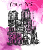 Notre Dame de Paris vector illustratie