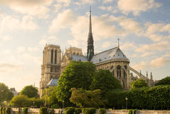 Notre Dame de Paris. View before sunset Stock Photography
