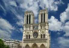 Notre Dame de Paris, also known as Notre Dame Cathedral Royalty Free Stock Photos