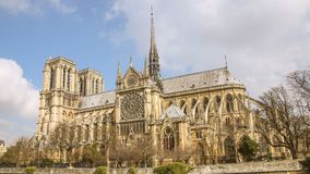 Notre Dame de Paris, also known as Notre Dame Cathedral or simply Notre Dame, is a Gothic, Roman Catholic cathedral of Paris, Fran. Ce stock video