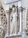Notre Dame de Paris architecture detail Royalty Free Stock Photos