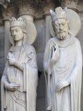 Notre Dame de Paris architecture detail Royalty Free Stock Photo