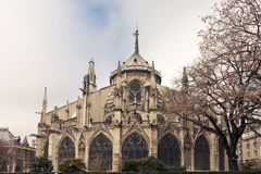 Notre Dame de Paris. Back View Royalty Free Stock Photos