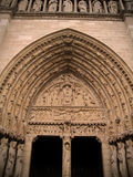 Notre Dame de Paris. Bas-relief of the Notre Dame church in Ile-de-la-Cite, Paris Royalty Free Stock Image