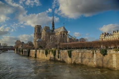 Notre Dame de Paris Basilica Royalty Free Stock Photos