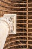 Notre Dame de Paris brand: Gotisk ram och colone royaltyfri bild