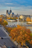Notre-Dame de Paris on a bright fall day Royalty Free Stock Photography