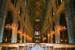 Notre Dame de Paris carhedral stock images