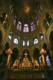 Notre Dame de Paris carhedral stock photo