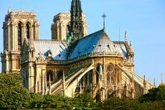 Notre Dame de Paris carhedral stock photos