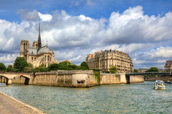 Notre Dame de Paris cathedral. Stock Image