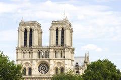 Notre Dame de Paris cathedral on beautiful background. Notre Dame de Paris cathedral on white beautiful background Stock Photo