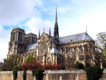 Notre Dame de Paris cathedral Stock Photography