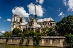 Notre Dame de Paris Cathedral on Cite Island Stock Photography