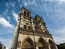 Notre Dame de Paris Cathedral on Cite Island Royalty Free Stock Photos