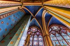 Notre Dame de Paris Cathedral citent dessus l'île Images libres de droits