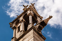 Notre Dame de Paris Cathedral Details, Paris Stock Photo