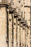 Notre Dame de Paris Cathedral: Detalhes arquitetónicos Paris, Fra Fotos de Stock Royalty Free