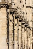 Notre Dame de Paris Cathedral: Detalles arquitectónicos París, Fra Fotos de archivo libres de regalías