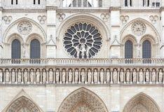 Notre Dame de Paris cathedral facade Stock Photos