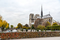 Notre Dame de Paris Cathedral, França fotos de stock royalty free
