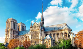 Notre Dame de Paris Cathedral. Royalty Free Stock Photography