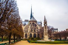 Notre Dame de Paris Cathedral, France.  Stock Photography