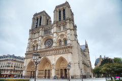 Notre Dame de Paris cathedral Stock Images