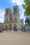 Notre Dame de Paris Cathedral in France Stock Photos
