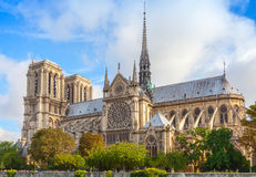 Notre Dame de Paris cathedral, France Stock Photography