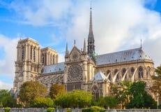 Notre Dame de Paris Cathedral, Frankrike Arkivbild