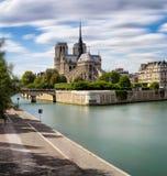 Notre Dame de Paris Cathedral, Ile de La Citera, Paris Royaltyfria Foton
