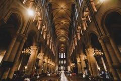 Notre Dame de Paris Cathedral Interior fotografie stock